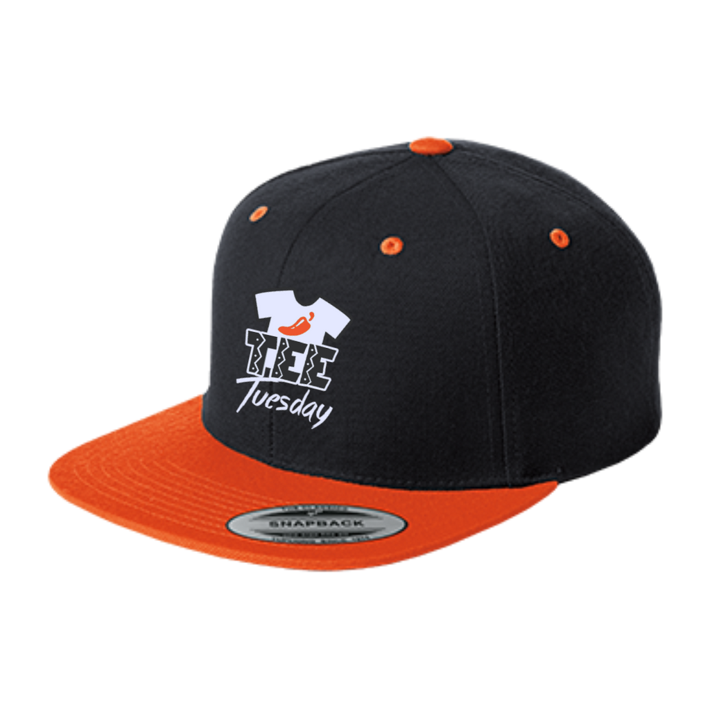 [EXCLUSIVE] Tee Tuesday - Flat Bill High-Profile Snapback Hat