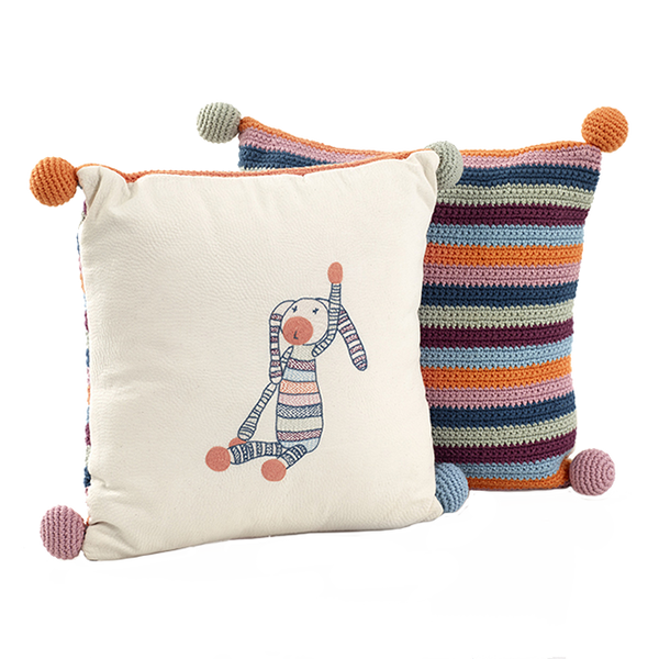 Striped Bunny Cushion
