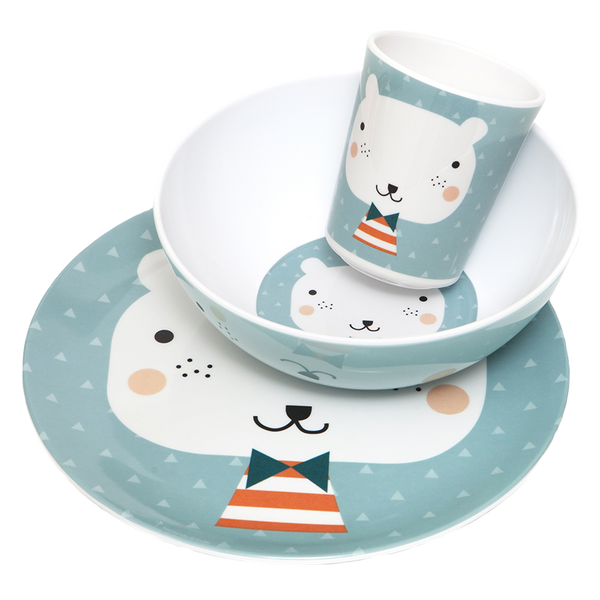 Bear Triangles - Melamine Set