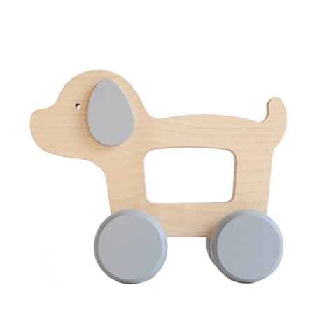 Push Along Toy Wooden Puppy