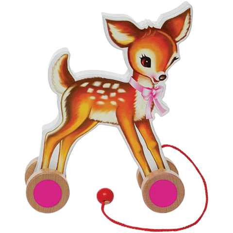 Pull Along Deer on Wheels