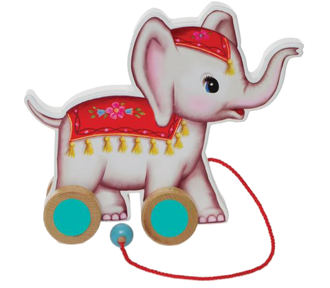 Pull Along Wooden Elephant Toy