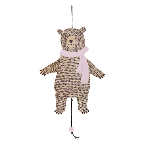 Jumping Jack Bear - Blush Pink