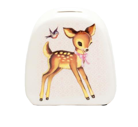 Retro Ceramic Deer Money Bank