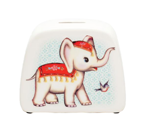 Retro Ceramic Elephant Money Bank