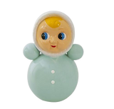 Retro Porcelain Roly Poly Doll Money Bank