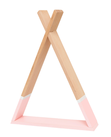 Tipi Wooden Shelf - Baby Pink