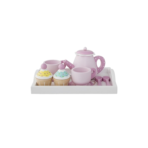 Wooden Tea Set 8 piece