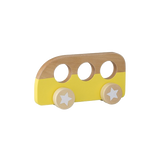 Push Along Wooden Bus - Yellow
