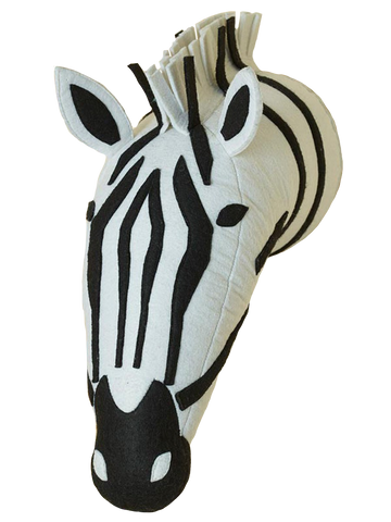 Into The Woods Zebra Felt Wall Hanging