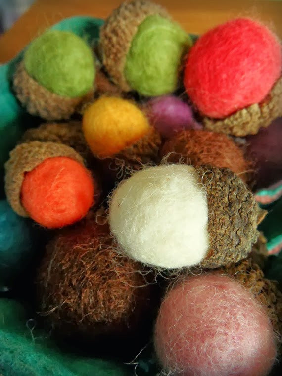 Felted Acorns Craft