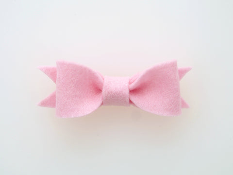 100% Wool Felt Bow Hair Clip (WHCB)