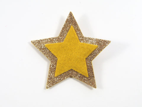 Wool Blend Felt Star Hair Clip (BSCS)