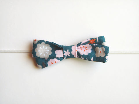 100% Organic Cotton Fabric Bow Headband (FBHB)