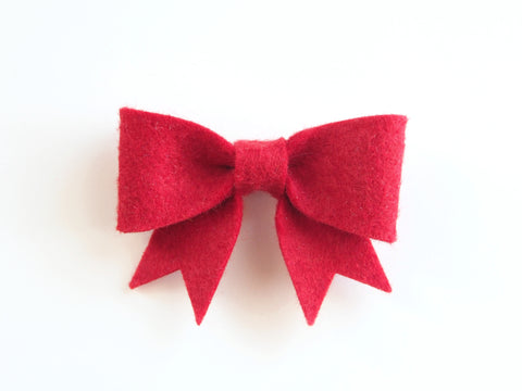 Wool Blend Felt Sailor Bow Hair Clip (BSBC)