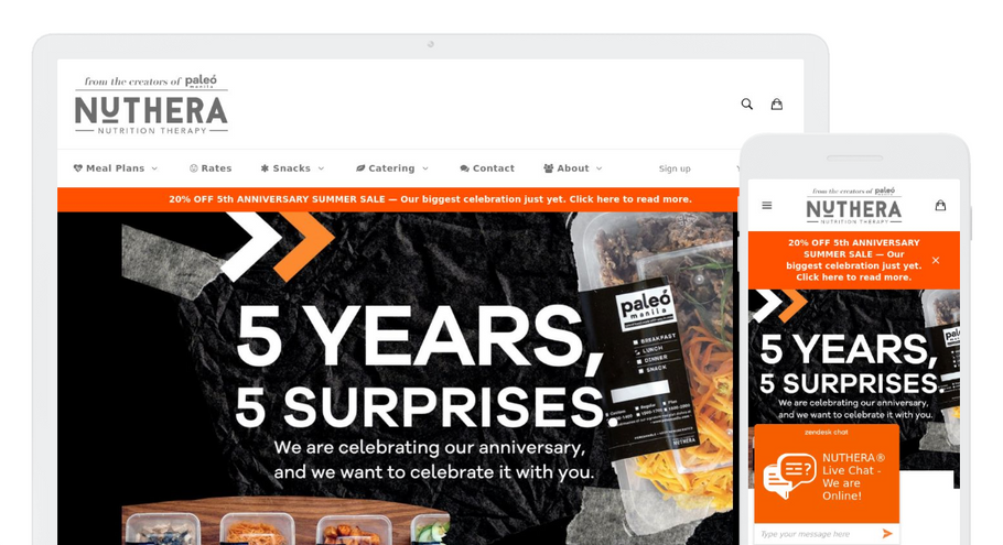 """5 YEARS, 5 SURPRISES"": Paleo Manila by NUTHERA's 5th Anniversary Sale"