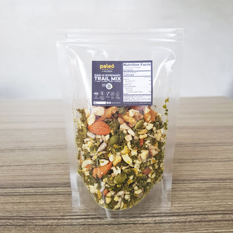 Take Root Garlic Rosemary Trail Mix with Sour Cream and Chive Kale Crumbs