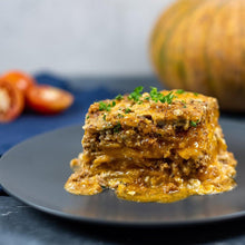 "Load image into Gallery viewer, Paleo Manila Gluten-Free Dairy-Free ""Cheesy"" Squash and Beef Lasagna Meal"