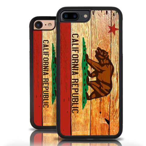 California Republic Phone Case Wooden