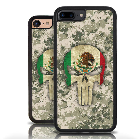 Mexican Skull, Mexican Flag, Mexican Warrior, Iphone 7 Plus Mexican Case