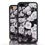 Floral Iphone 7 Case Black White Roses