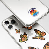 Orange Butterfly Pattern Phone Case