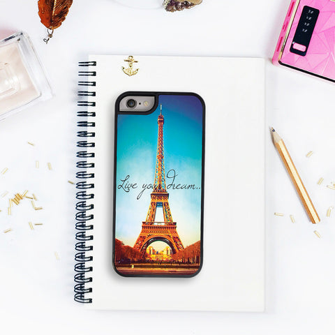 Iphone 5s Case iPhone SE Case Eiffel Tower Case Live Your Dreams Quote IPhone 5C Iphone 4S Paris Case Perfect Holiday Gift for Girls iPhone