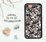 Iphone 7 Case Flowers Iphone 7 Plus Case Floral Cute Iphone 7 Vintage Floral Print Iphone Rose Phone Case Girly Trendy Iphone 7 Cover Boho
