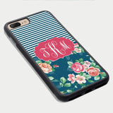 Personalized Iphone 7 Plus Case Flower Pattern Iphone 6 Plus Case Iphone 6 Case Custom Monogram Custom Iphone 7 Case Monogram Iphone Case