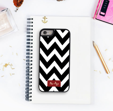 Zig Zag Iphone 5/5S Case Iphone 6 Black and White Case Protective Case Striped Zig Zag Iphone 6 Plus Chevron Case Iphone 7 Iphone 7 Plus