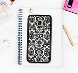 Elegant Damask Galaxy S8 Case Galaxy S7 Edge Galaxy S8 Plus Floral Pattern Case Galaxy S6 Edge Lace Note 8 Case Galaxy S7 Valentines Gift