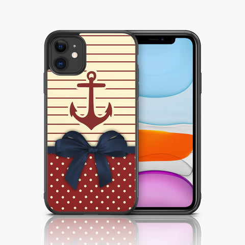 Anchor Iphone X Xs Case Polka Dots Iphone 8 Plus Iphone 8 Iphone 7 Plus Iphone 7 Nautical Sailor Max iPhone Xr Iphone 11 Iphone 11 Pro