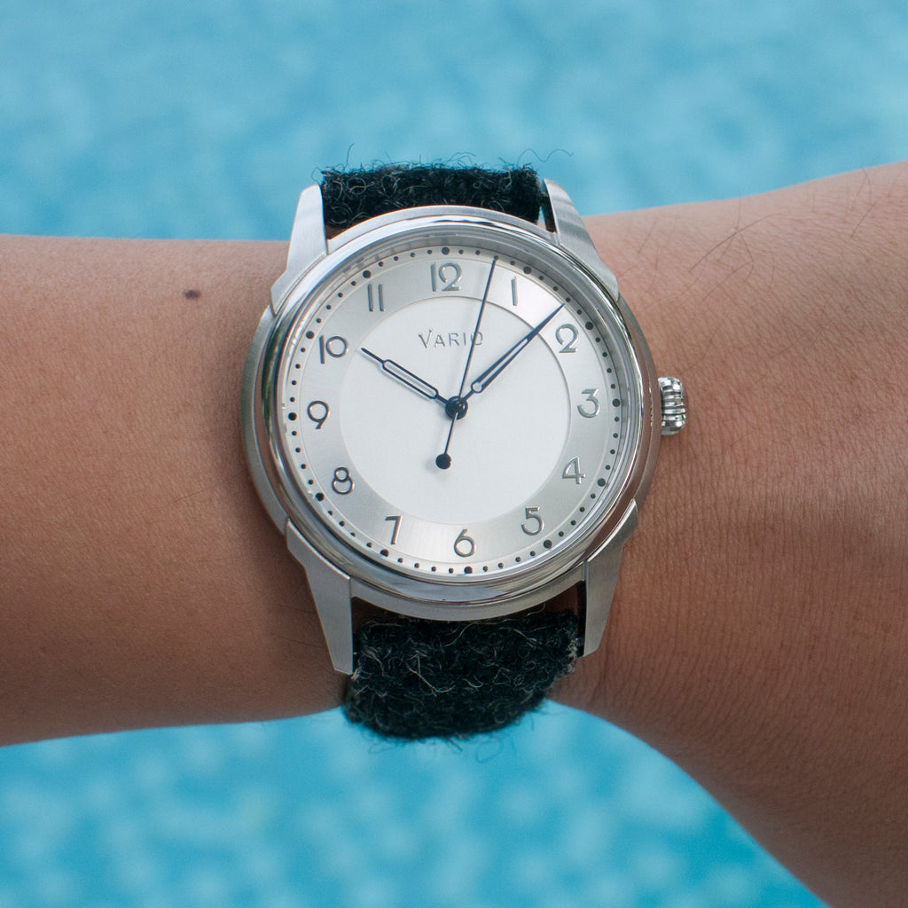 vario art deco watch on 6 inch wrist
