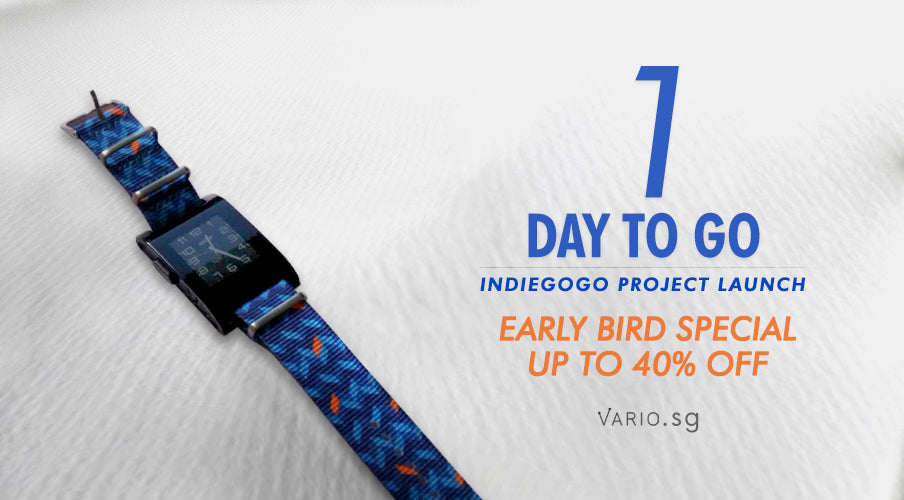 1 day to go to indiegogo launch