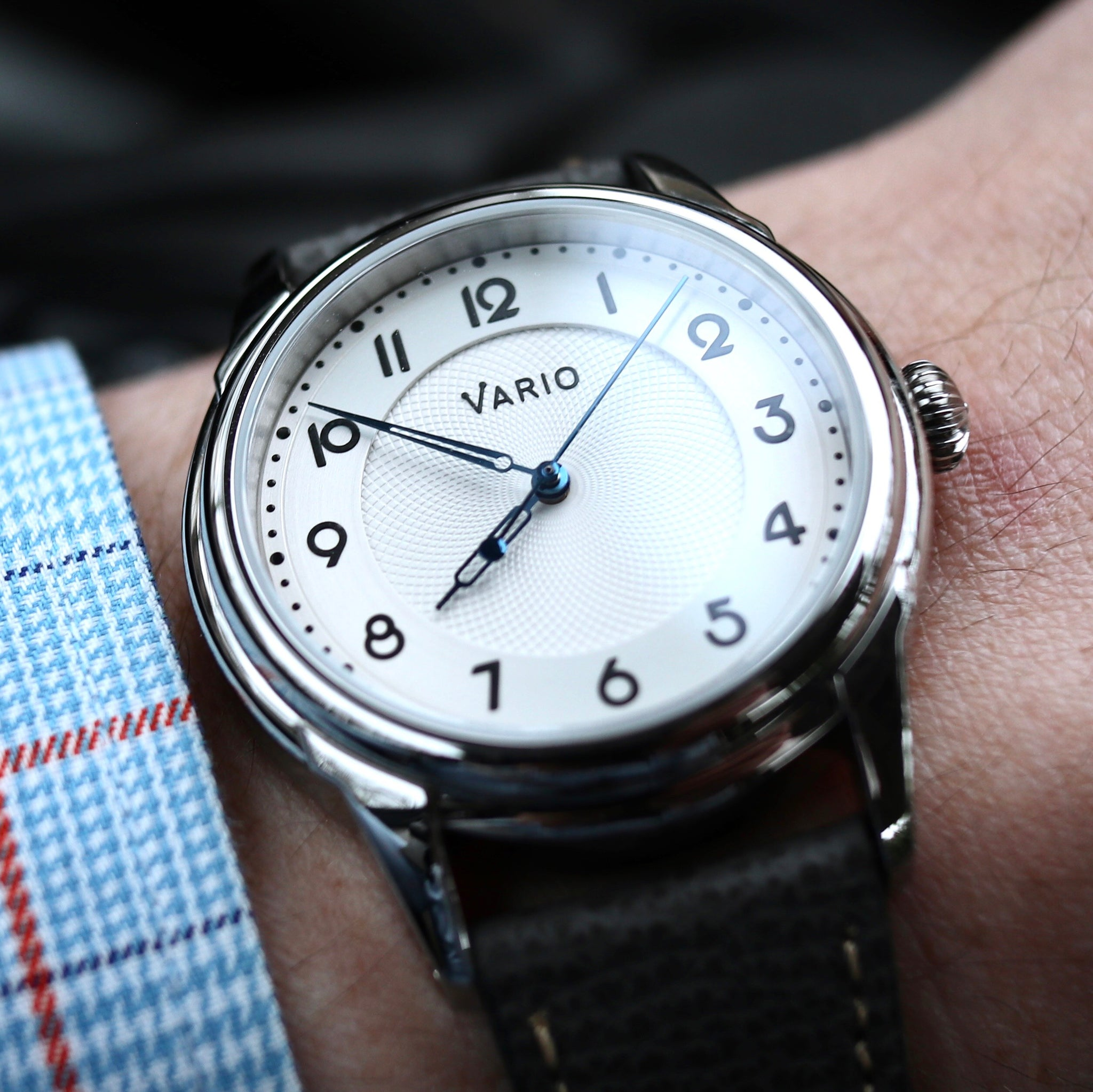 vario art deco watch white dial