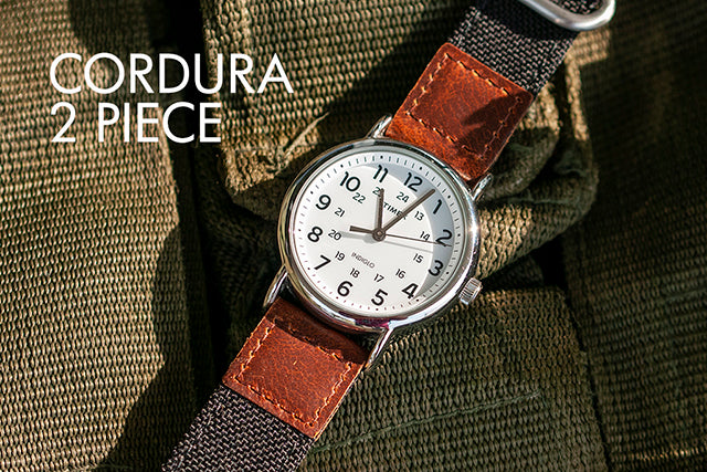vario cordura cordura oiled leather watch strap