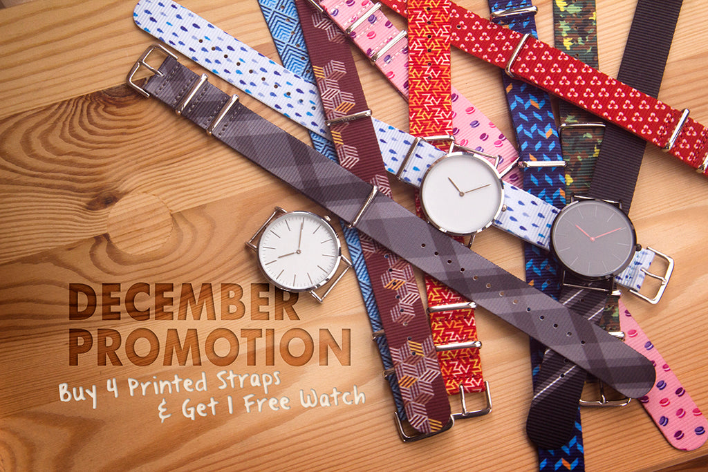 vario printed strap and watch promotion
