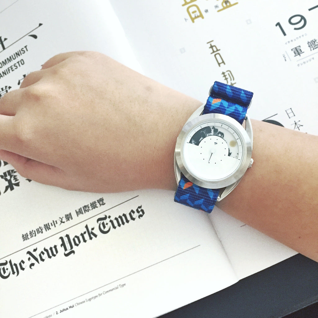 mr jones watch on vario ocean chevron printed nato strap