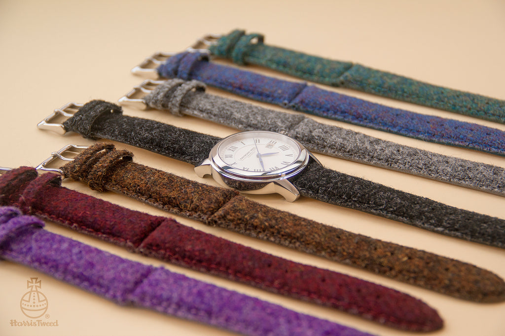 Need to change your wardrobe for your watch? Consider our genuine Harris Tweed straps with leather backing for comfort and style.