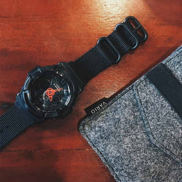casio gshock ga200 with vario nato kit strap
