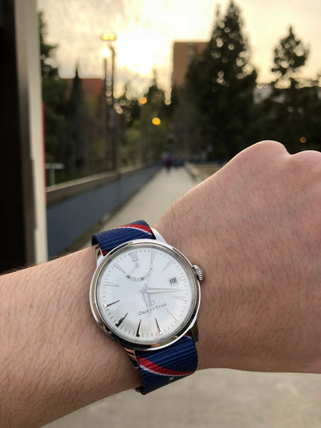 orient star with nato strap