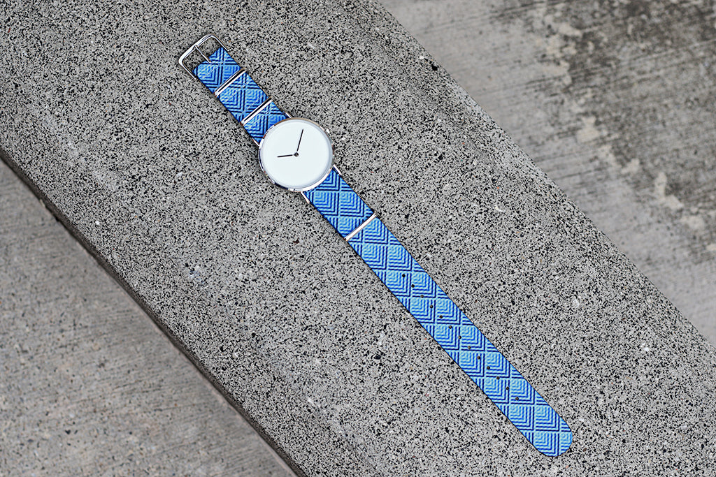 vario sky pyramid graphic nato strap with minimalist watch