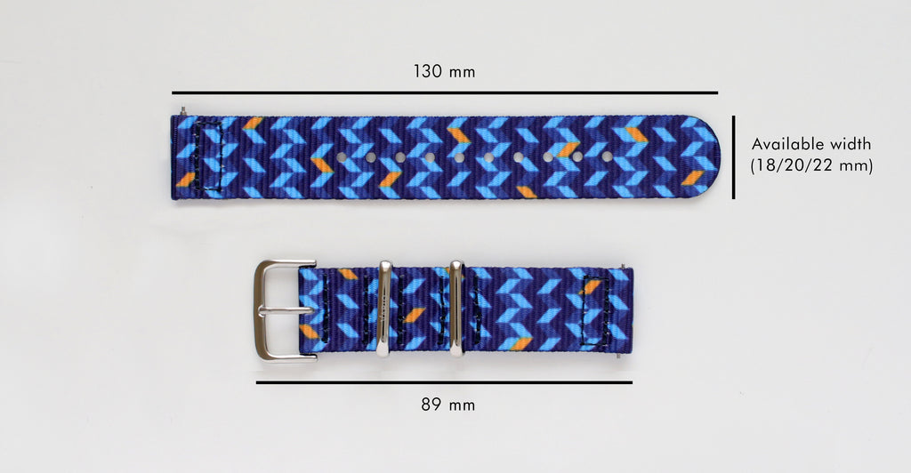 vario 2 piece nato strap dimension