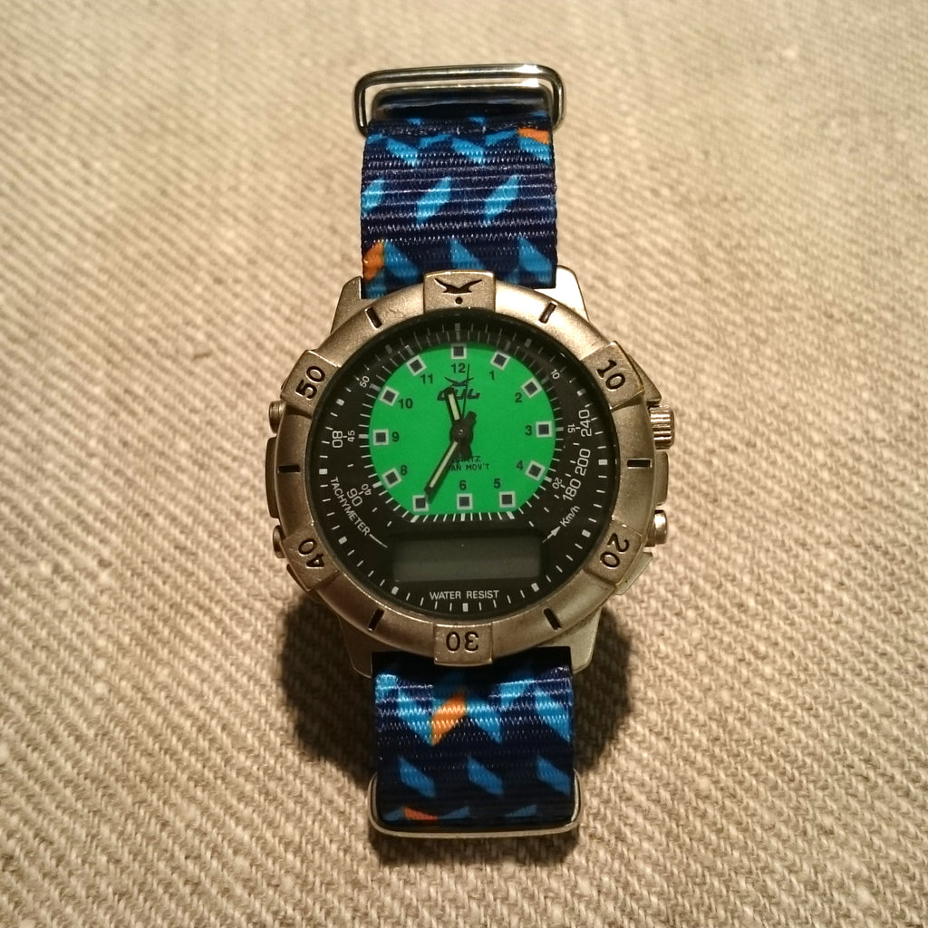 gul watch with vario 20mm printed nato strap