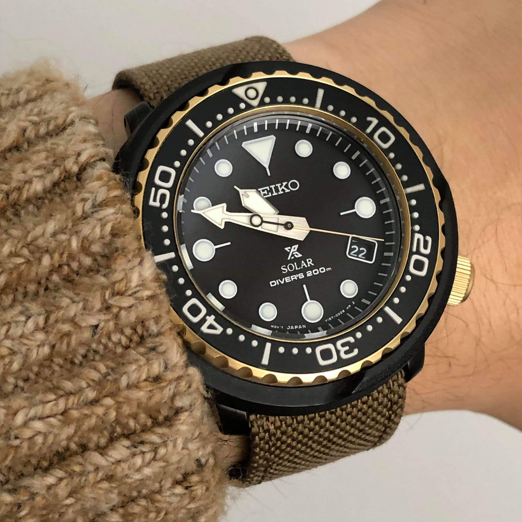 vario cordura single pass on seiko tuna