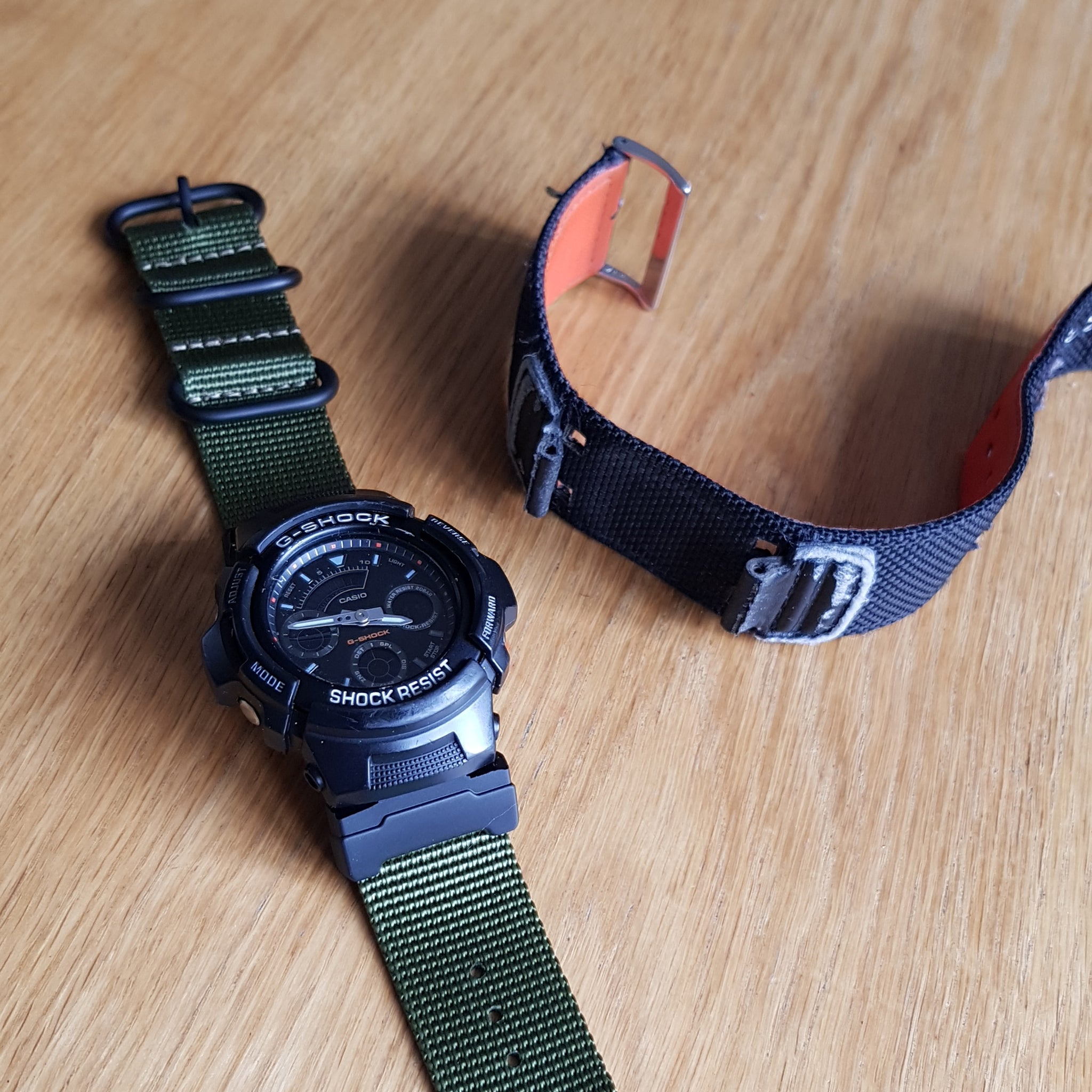 aw591ms on vario watch strap and adapter