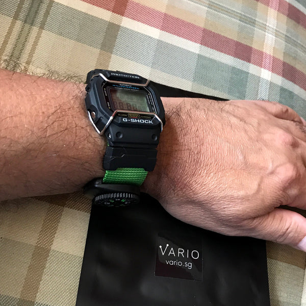 casio gshock with vario watch strap