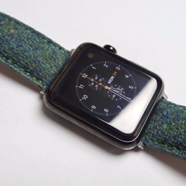apple watch with vario harris tweed strap