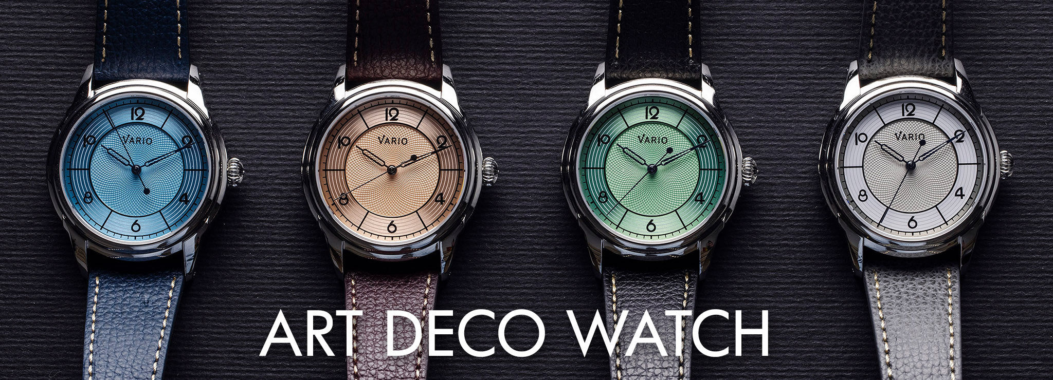 vario art deco empire dress watch