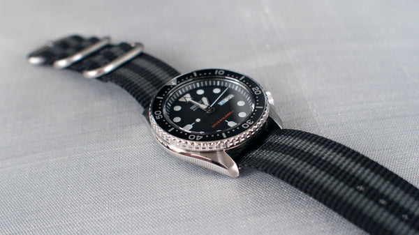 seiko skx 007 on vario ballistic nylon watch strap